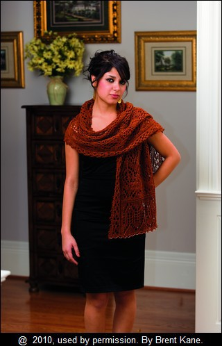 Copper Queen Beaded Stole by Renee Leverington