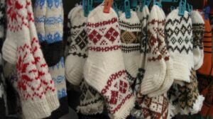Bulky socks in the tourist market