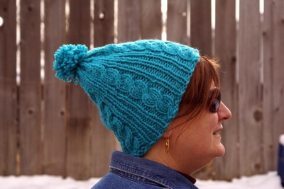 Free Pattern: Gail's Easy Cable Ski Cap 2