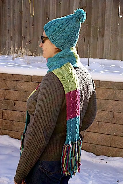 Free Pattern: Gail's Easy Cable Scarf 1