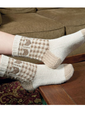 Kitty Socks pattern from the book Kitty Knits  1