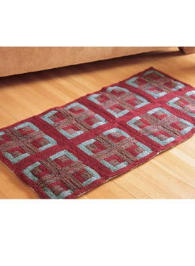 Check out my Log Cabin Quilted rug pattern. Just in time to put in front of fire... 1