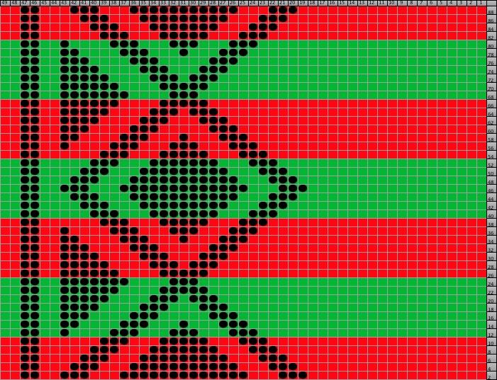 Free Pattern: Beaded Christmas Wrist Warmers 1