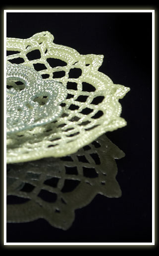 Crochet and Knitted glass 1
