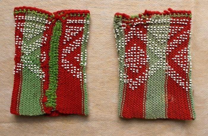 Free Pattern: Beaded Christmas Wrist Warmers 3