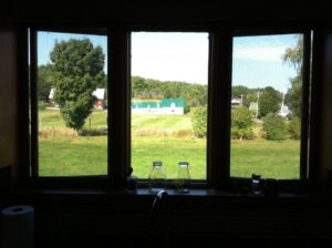 Kitchen view - Hansen's Farm