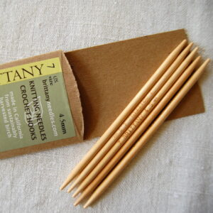 My favorite wooden needles are Brittany Birch.