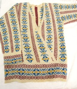 TEX 8946 1920s cross over front tunic with matching tam