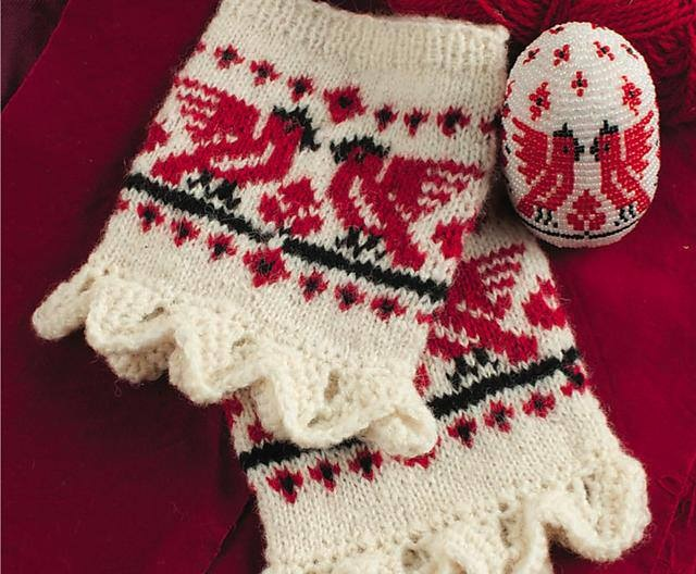 Let Freedom Ring: Belarusian Wrist Warmers 1
