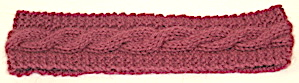 Pattern: Easy Cable Scarf and Headband 1