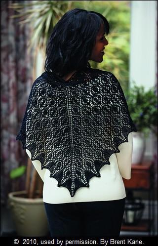 Lace Mesh Triangular Shawl