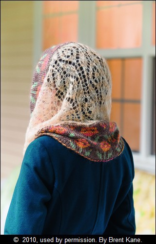 SUMMER OF LACE: Lace and Colorwork Wimple by Annie Modesitt