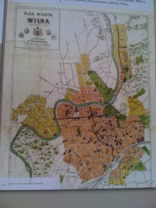 An old street map of Vilnius