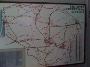 Map of Lithuanian Electrical Power Distribution