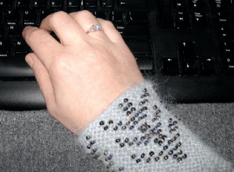 Free Pattern: Black Purl Magazine: Lietuvos Riešines (Beaded Wrist Warmers) Pattern