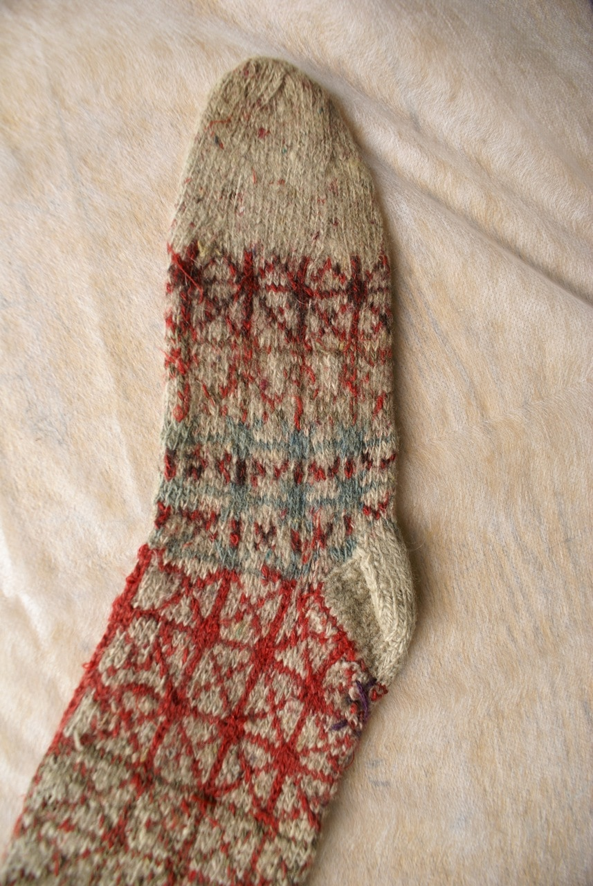 natural dyed sock