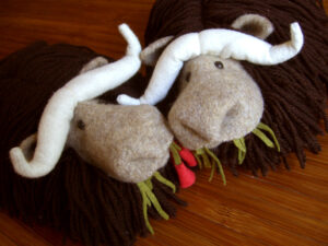 Oomingmacks for your cold feet. Free Pattern