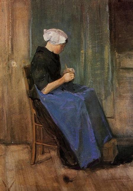 Vincent van Gogh knitting paintings.