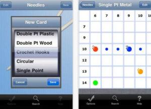 Knitting Needle App iPhone/iPad