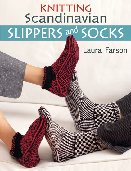 The book Knitting Scandinavian Slippers and Socks by Laura Farson