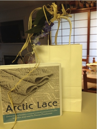 A sneak peek at the Arctic Lace Luxury Yarn Club