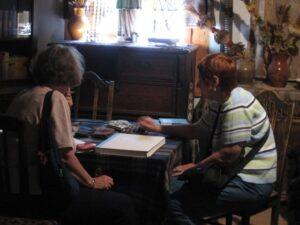 June and Donna in Vilkaviškis, 2008