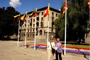 June and Donna in Kaunas, 2008