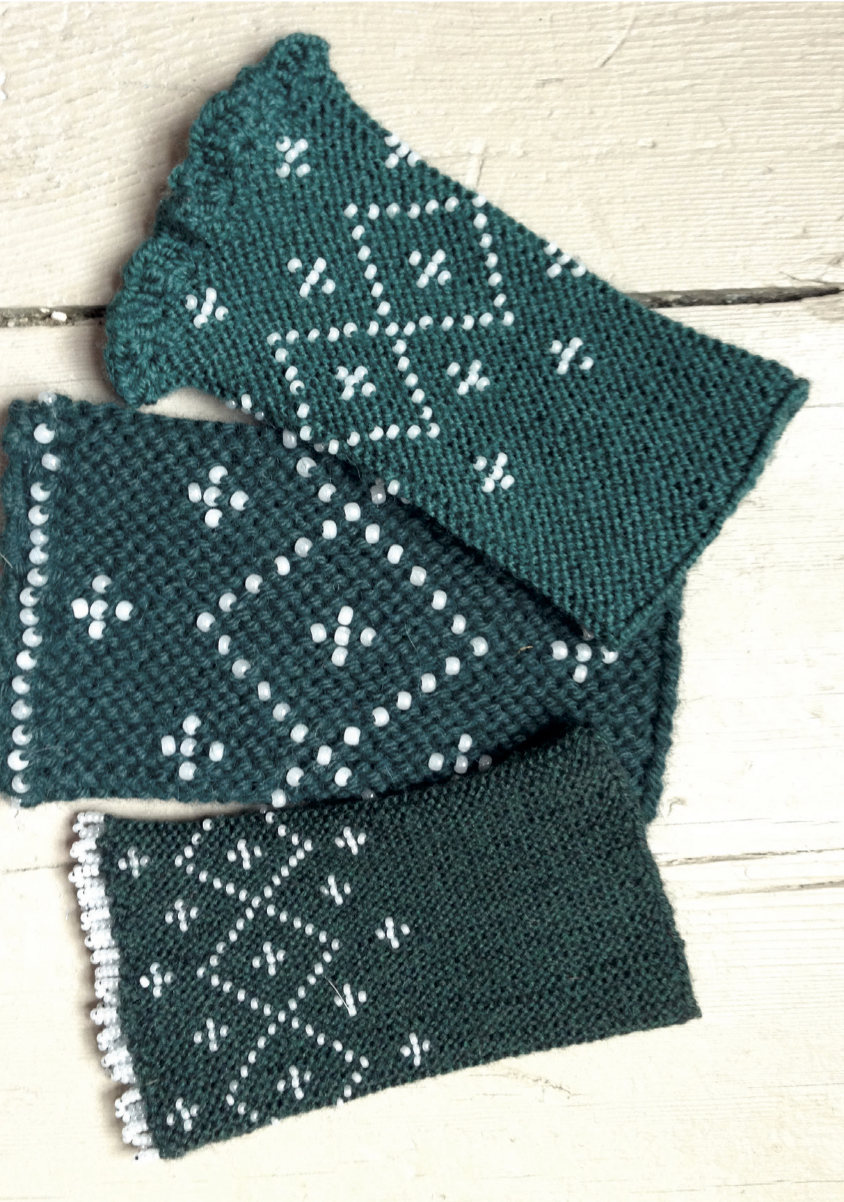 Knitting with Seed Beads