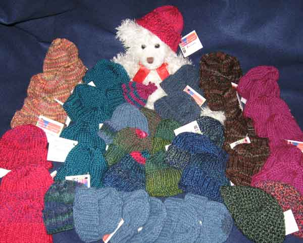 A small charity knitting project for a busy season