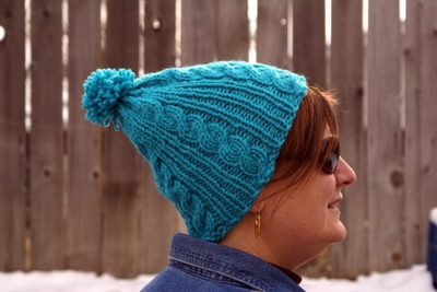 Pattern: Gail's Easy Cable Ski Cap
