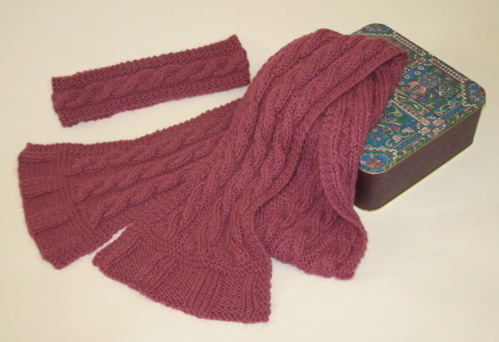 Pattern: Easy Cable Scarf and Headband