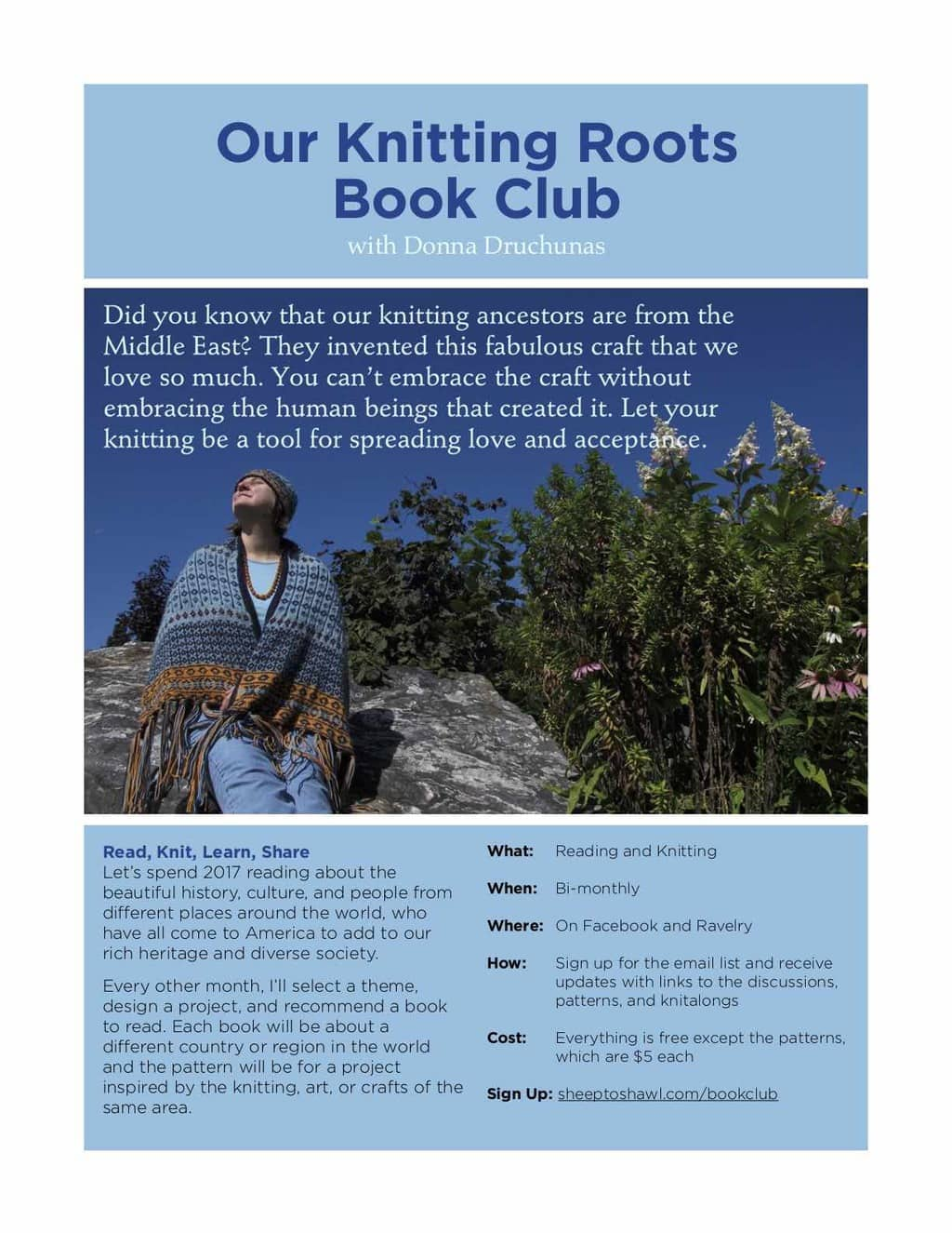 Knitting Club Book : Our knitting roots book club with donna druchunas sheep