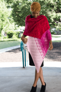 My pattern Florid Wrap, photographed by Barbara Benson.