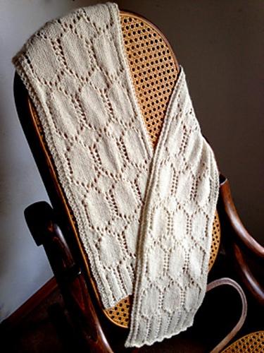 Ivory Needle Case Scarf | Knitting Pattern 1
