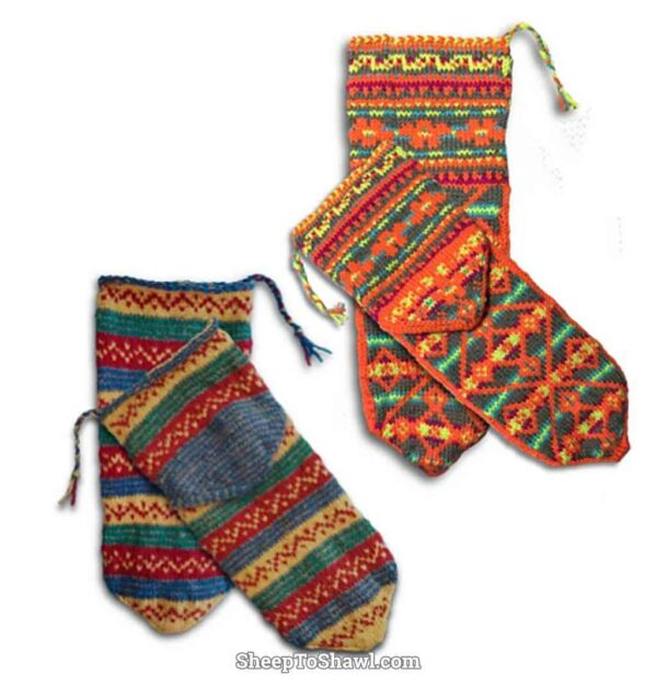 Arab/American Knitting Sock Pattern 1