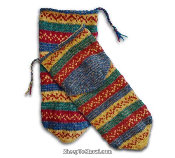 Arab/American Knitting Sock Pattern 2