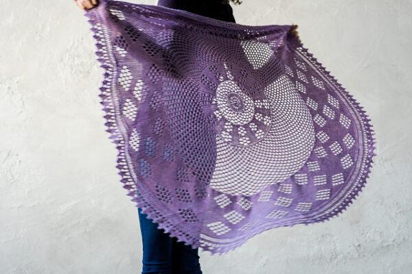 Berry Pi Shawl Knitting Pattern 7