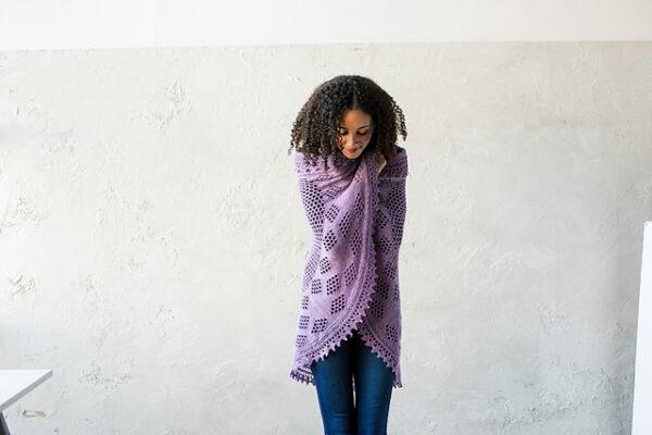 Berry Pi Shawl Knitting Pattern 4