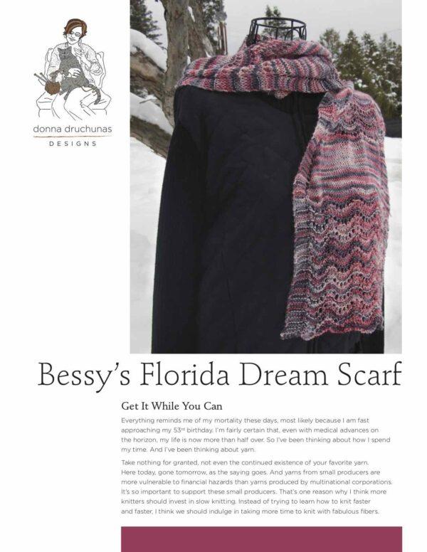 Bessy's Florida Dream Scarf Knitting Pattern 1