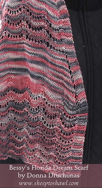 Bessy's Florida Dream Scarf Knitting Pattern 2