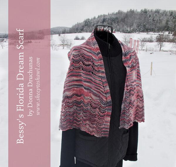 Bessy's Florida Dream Scarf Knitting Pattern 5