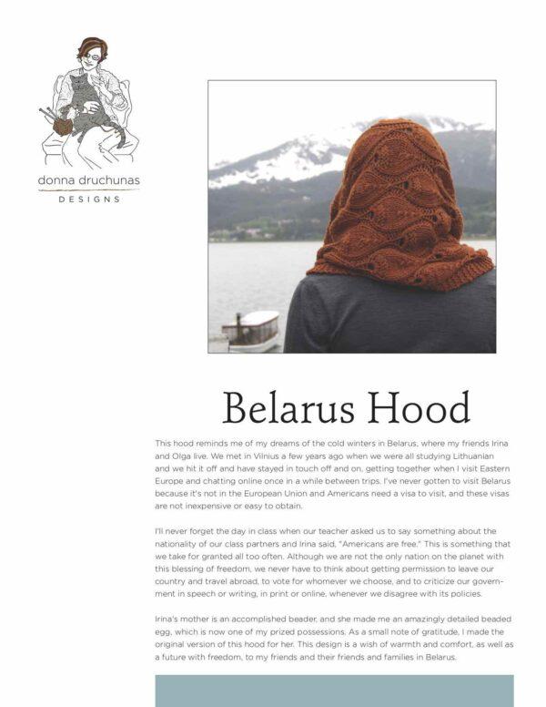 Belarus Hood Knitting Pattern 1