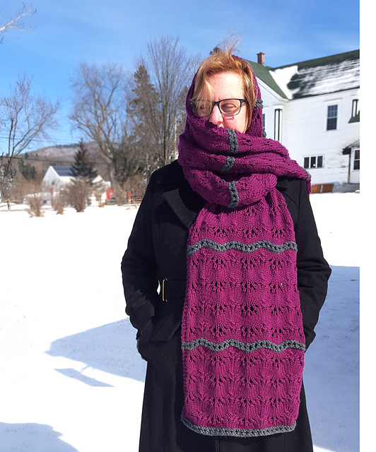 Milo in the Doldrums Scarf Knitting Pattern 3