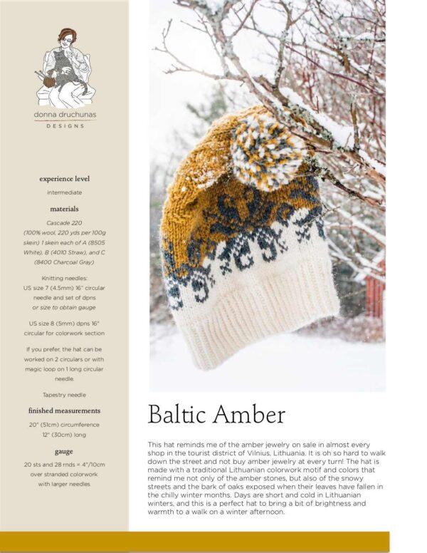 Baltic Amber Hat Knitting Pattern 1