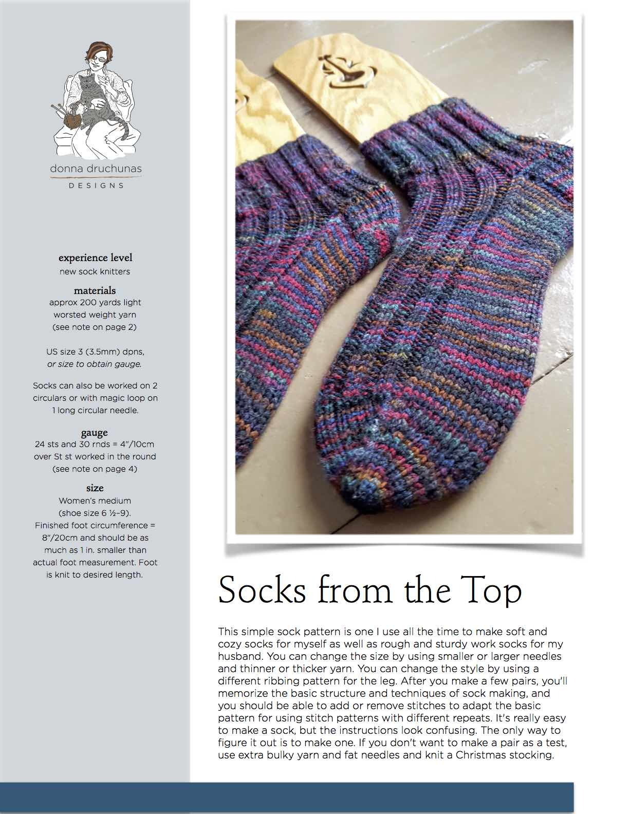 Socks from the top knitting pattern sheep to shawl llc socks from the top knitting pattern bankloansurffo Gallery