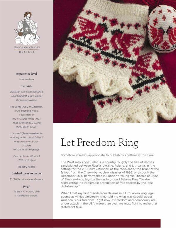 Belarusian Wrist Warmers Knitting Pattern 1