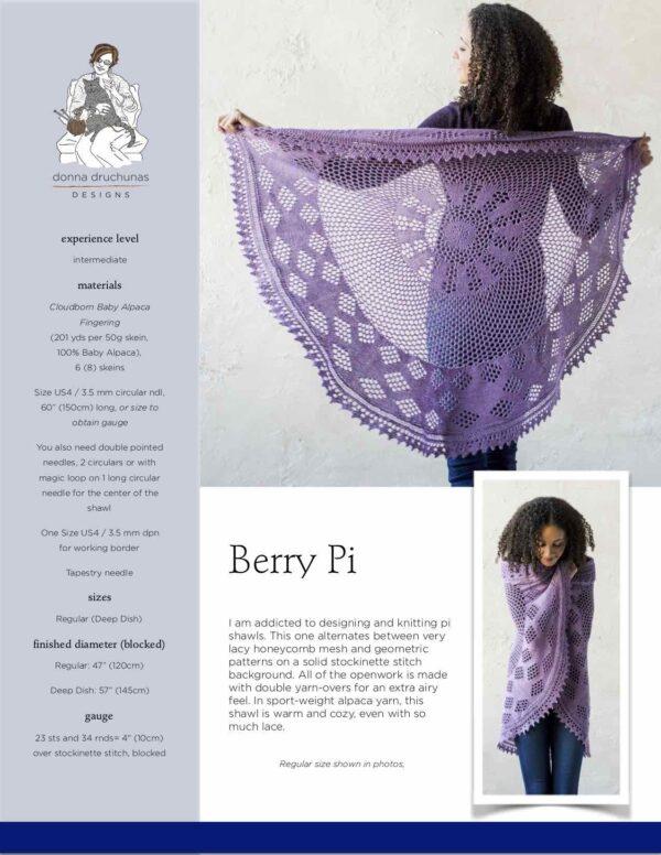Berry Pi Shawl Knitting Pattern 1