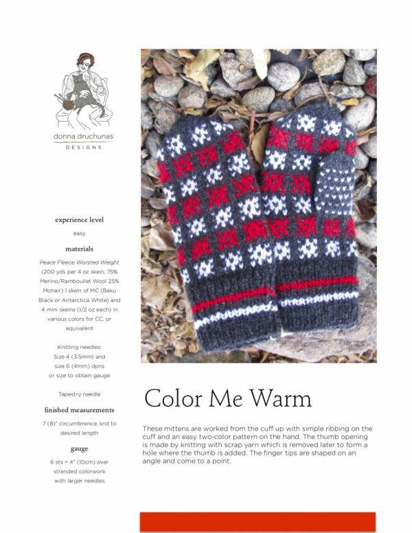 Color Me Warm Knitting Pattern 1