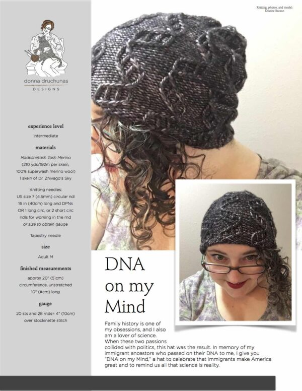 DNA on my Mind Knitting Pattern 1