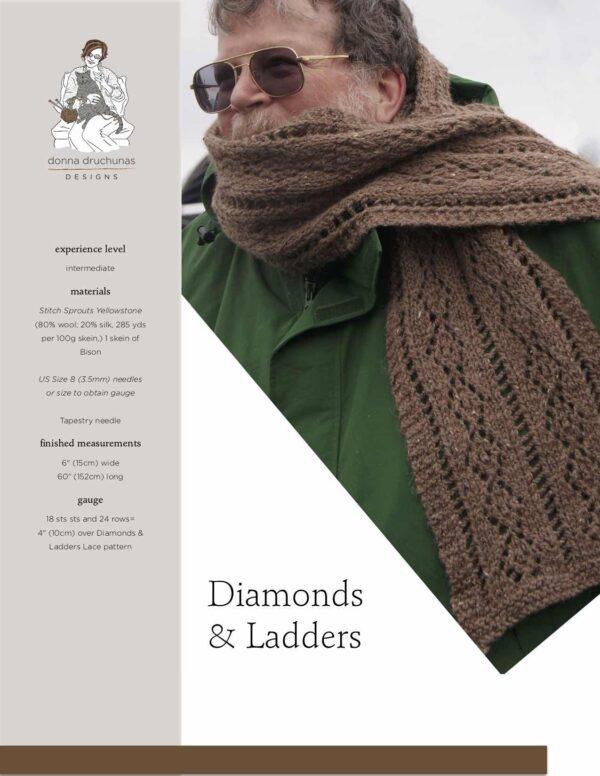 Diamonds & Ladders Scarf Knitting Pattern 1